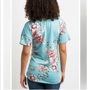 Pinkblush Tops - Pinkblush Blue Floral Dolman Sleeve Top